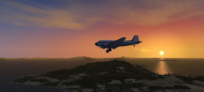 Dc3 en vuelo nocturno