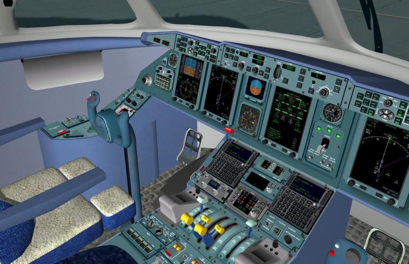 Cabina del AN-148 de Xplane