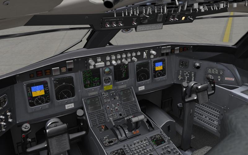 Cabina CRJ-200 de J Rollon para X-Plane