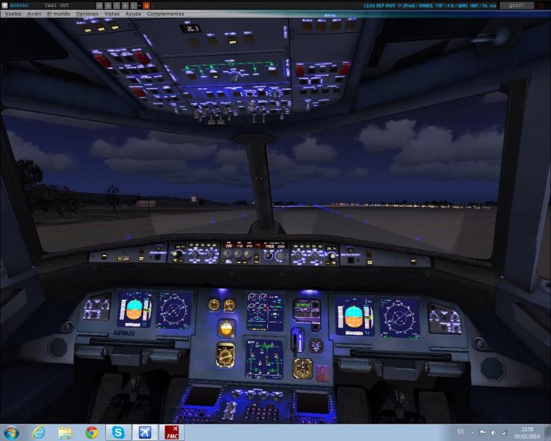 Taxi para la RWY11 LEAS destino IFR Valencia, A321 al amanecer.