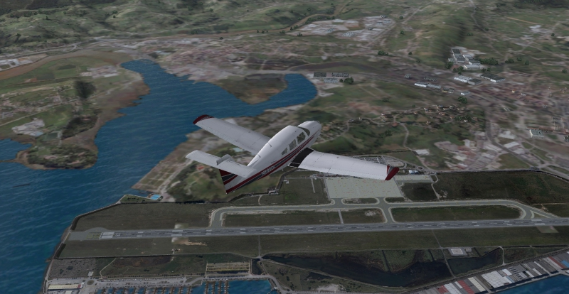 Sobrevolando Santander (LEXJ) de camino a Asturias (LEAS) con mi Piper PA-28RT-201T Turbo Arrow 4