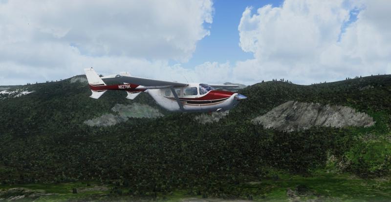 Cessna C337H Skymaster volando por Ushuaia