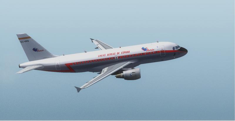 Airbus A319 de Wilko despegando de La Palma (GCLA), mi primer vuelo con un Airbus....