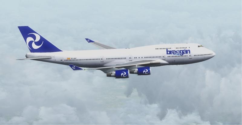 B747-400 sobre el Mediterráneo un día cubierto, volando de Madrid Adolfo Suárez-Barajas(LEMD) a Doha (OTBD)
