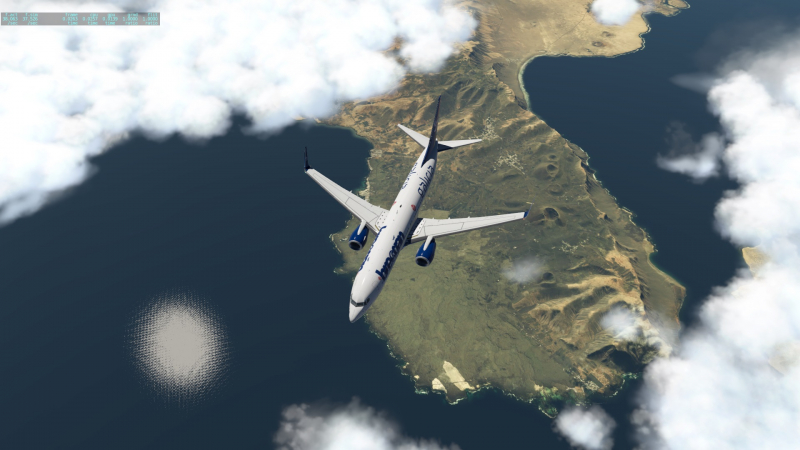 Gran Canaria -Sevilla. Sobrevolando Lanzarote a FL380