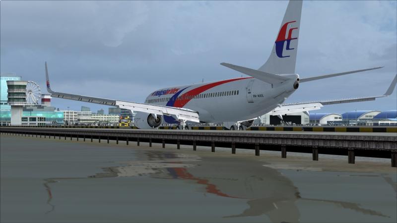 B738 llegada a Macau VMMC