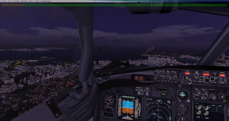 Aproximacion Santos Dumont-Rio de Janeiro pista 02R
