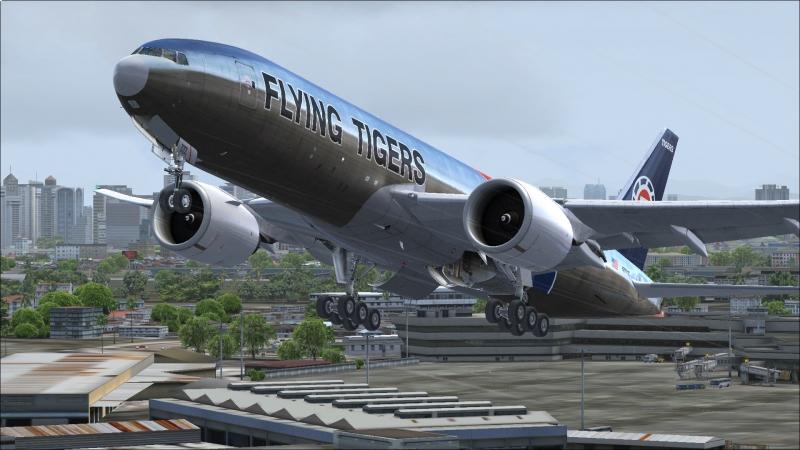 Despegue B777-F pista 24 aeropuerto de Ninoy Aquino- Manila (Filipinas)