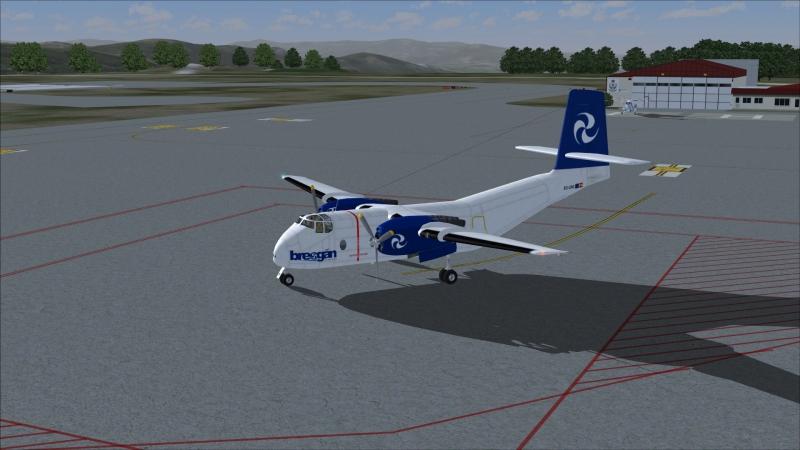 DHC-4 Caribou en plataforma de Vigo - LEVX