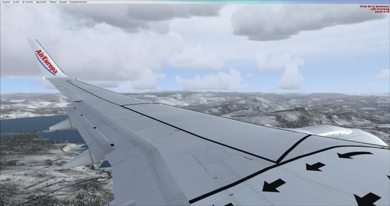 Llegando a icelan con mucha nieve