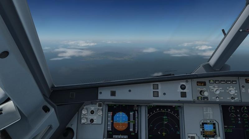 Selva de El Yunke en Puerto Rico, en vuelo hacia Cancún.